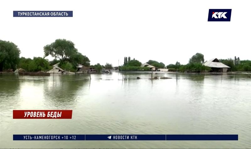 Оценивать состояние затопленных аулов Туркестанской области начнут только после схода воды