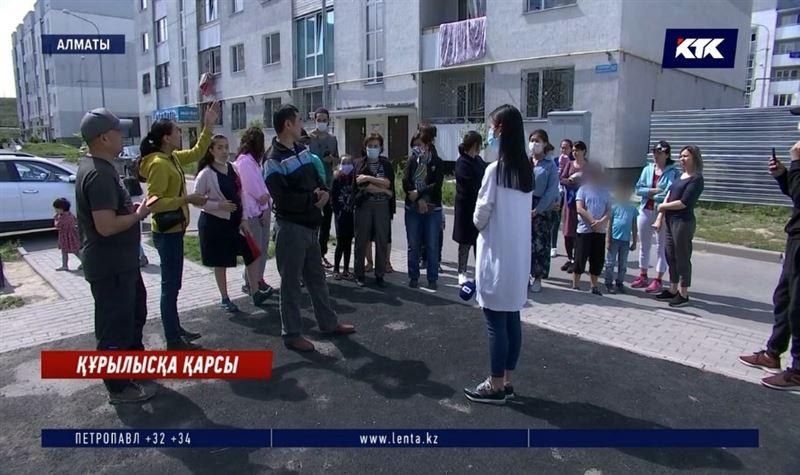 Алматы: Саялы тұрғындары жаңанысанның құрылысына қарсы