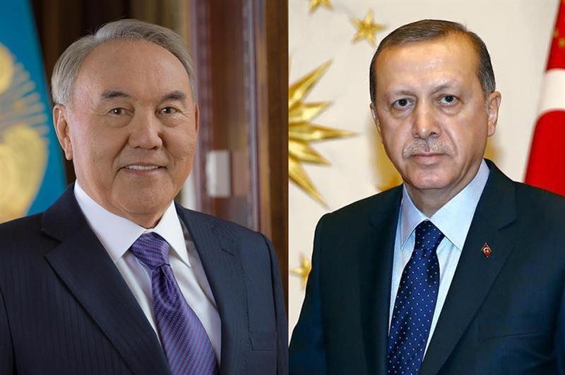 Елбасы Нурсултан Назарбаев переговорил по телефону с президентом Турции