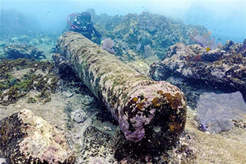 Рыбак случайно обнаружил затонувший сотни лет назад корабль