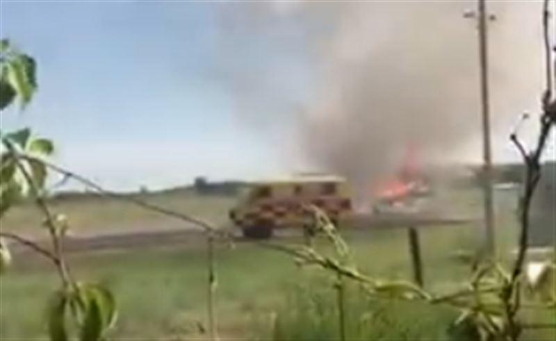 Самолет загорелся после посадки в ВКО