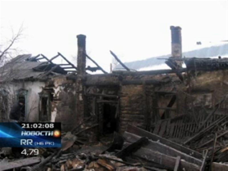 В СКО в огне погибли сразу трое маленьких детей