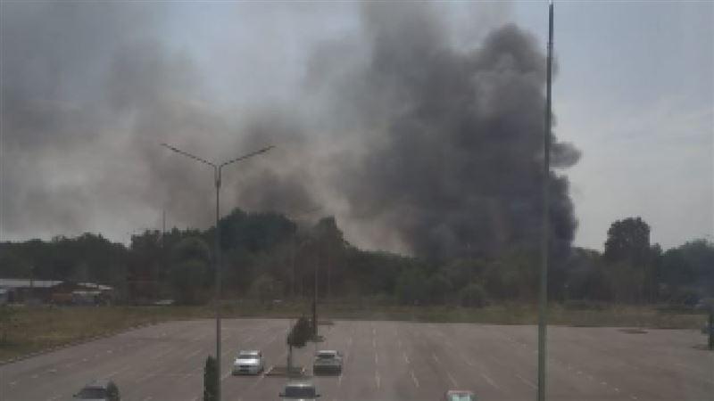 На рынке «Алтын Орда» вспыхнул пожар