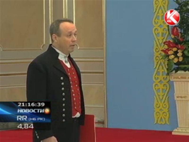 Посол Норвегии в РК при вступлении в должность произнес речь на казахском языке