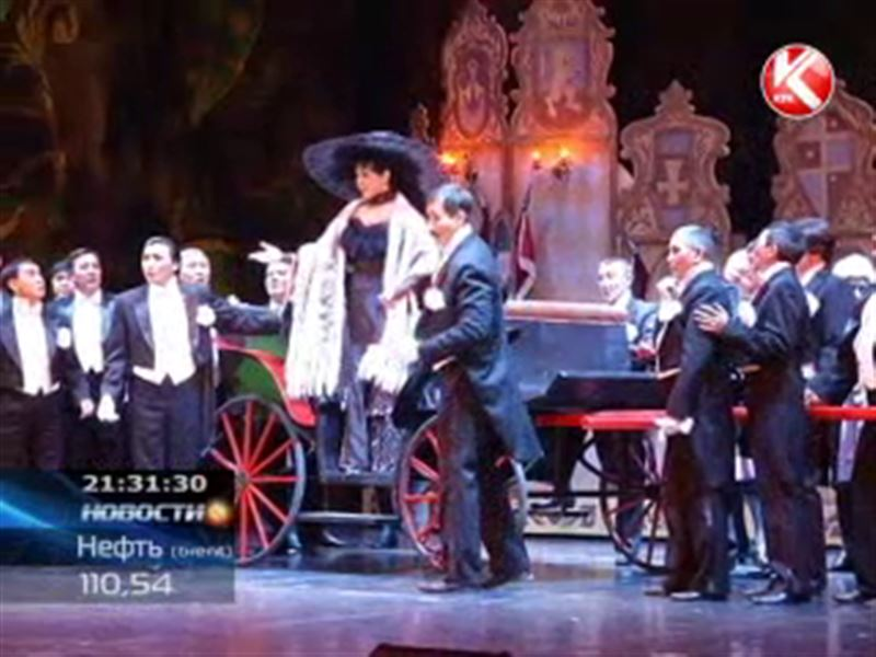 В театре оперы и балета имени Абая премьера - оперетта Франца Легара «Веселая вдова»