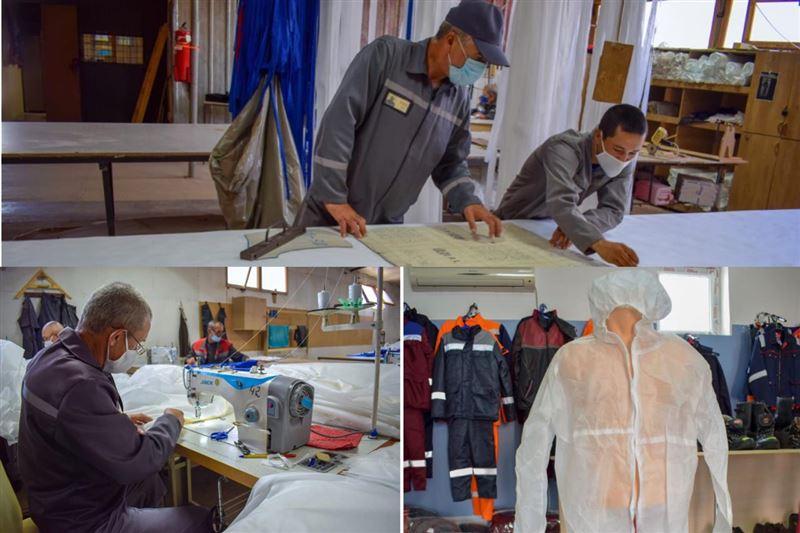 Осужденные шьют защитные костюмы для казахстанских медиков и полицейских