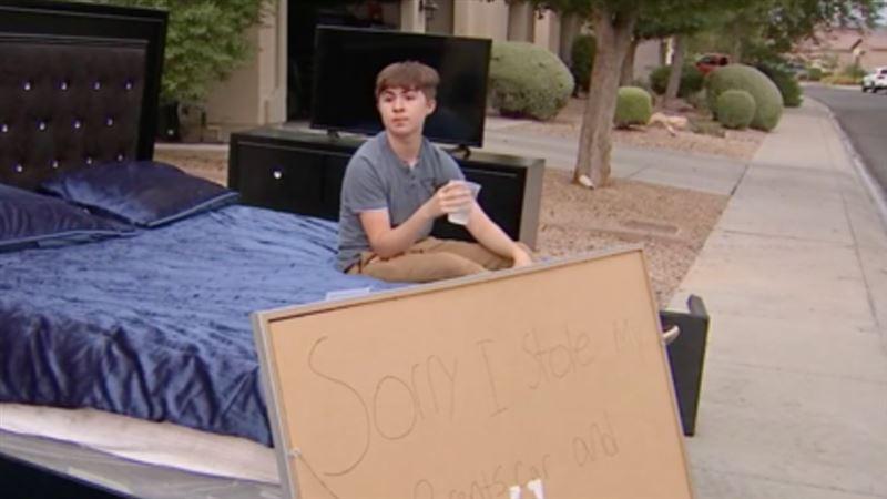Родители раздали соседям вещи взявшего без спроса их машину сына