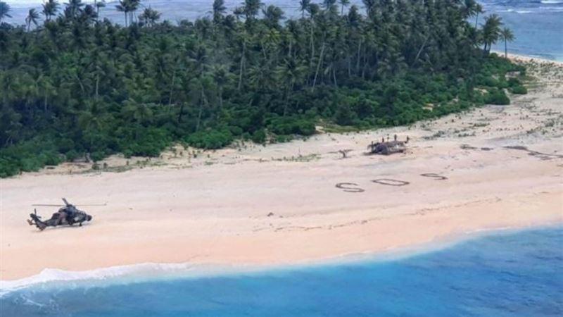 SOS: Аралда жоғалған үш адам құмдағы жазудың арқасында аман қалған
