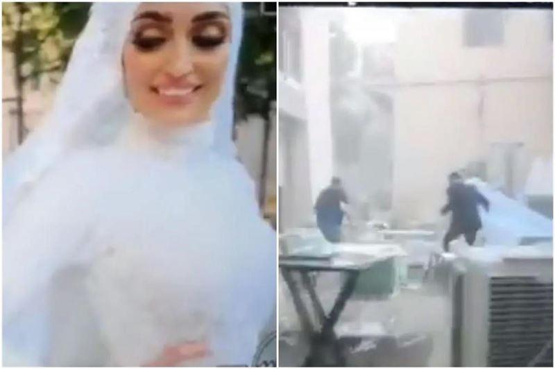 «Кругом была пыль, люди кричали»: невеста из Бейрута рассказала о свадебной съемке во время взрыва