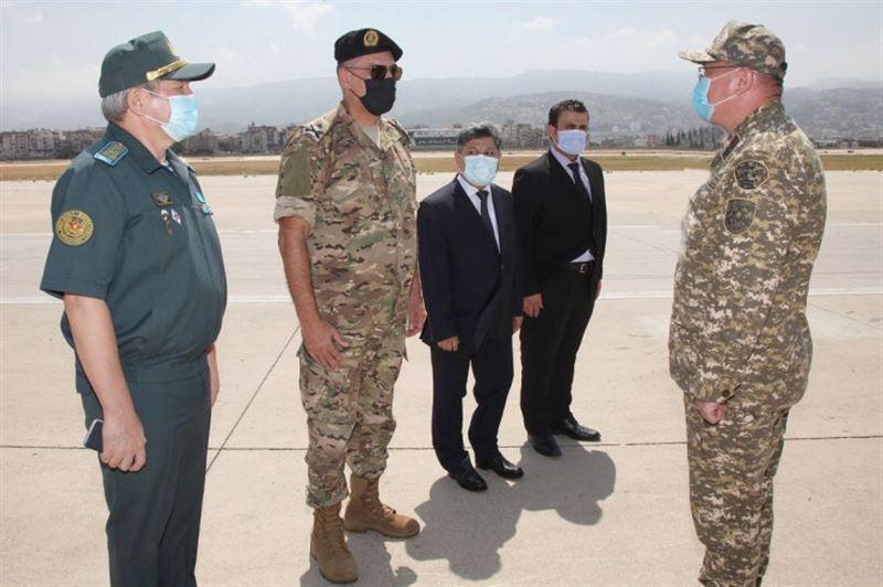 Военные медики из Казахстана прилетели в Ливан