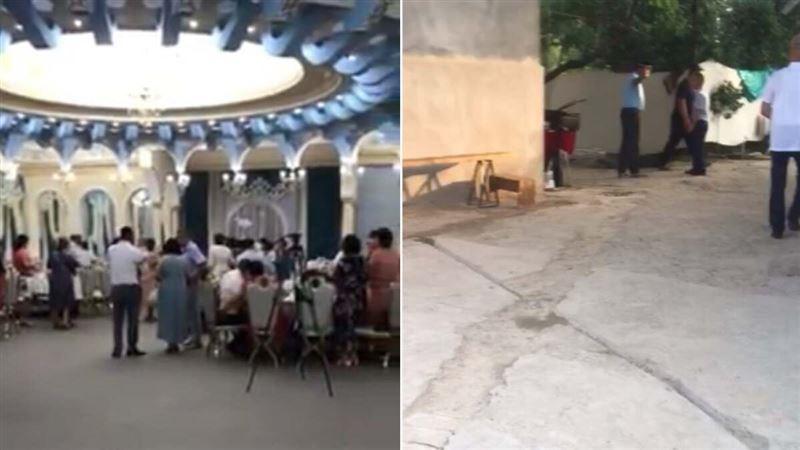 Проведение очередных свадеб во время карантина остановили полицейские Туркестанской области