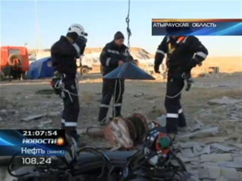 В Атырауской области из заброшенной шахты извлекли останки мужчины