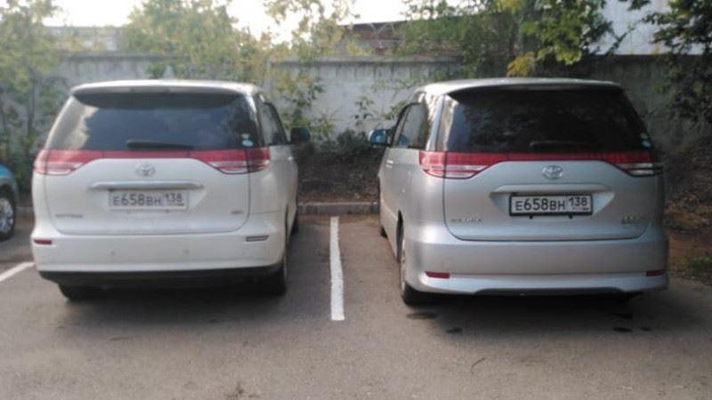 Три автомашины Toyota Estima с одинаковыми госномерами выявили полицейские Нур-Султана