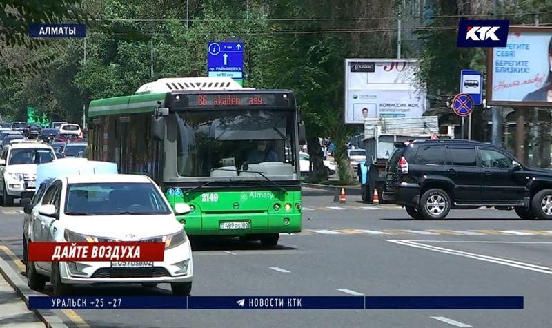 В Алматы могут запретить автобусы на дизельном топливе