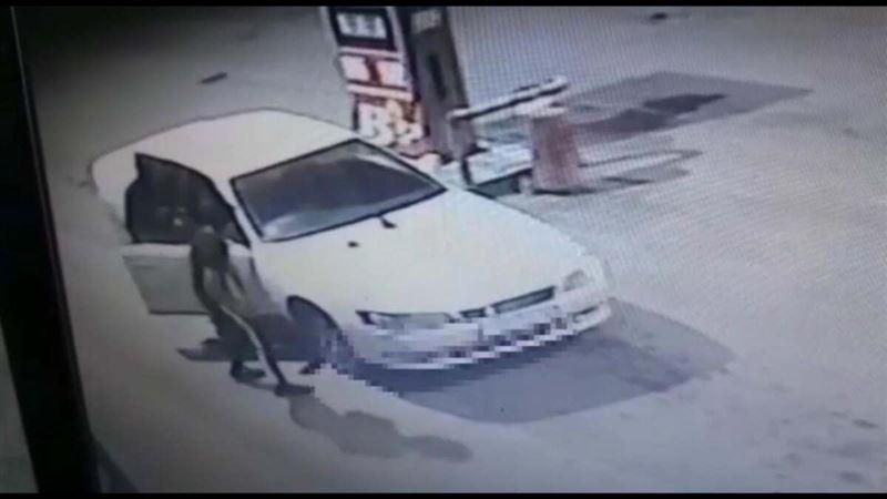 Павлодарский угонщик попал на камеры АЗС, заправляя заглохшее авто