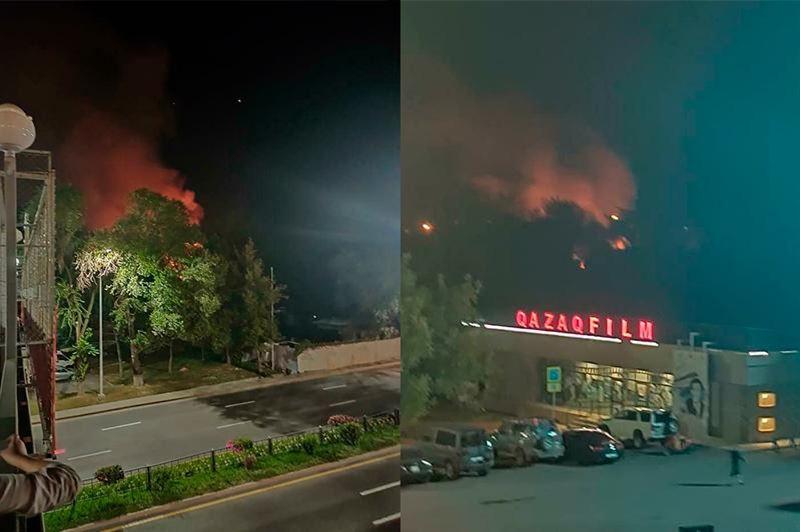 ПРЯМОЙ ЭФИР: Оба очага пожара на территории студии «Казахфильм» локализованы