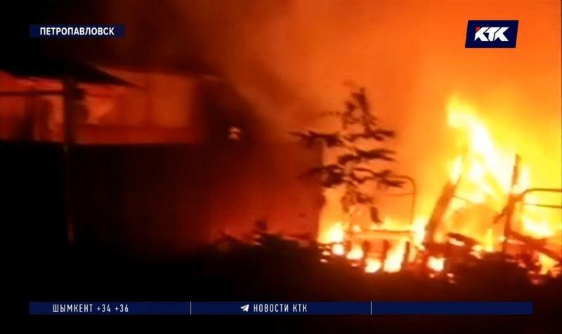 В СКО при пожаре погибла дачница