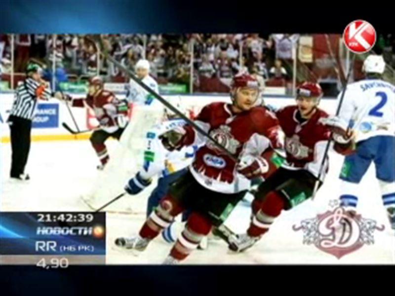 Хоккеисты «Барыса» на выезде обыграли рижское «Динамо»