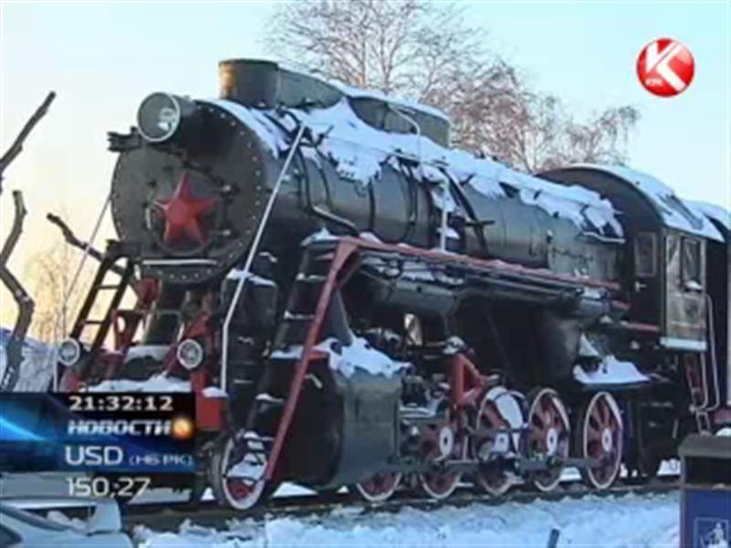 В Усть-Каменогорске появился памятник-локомотив