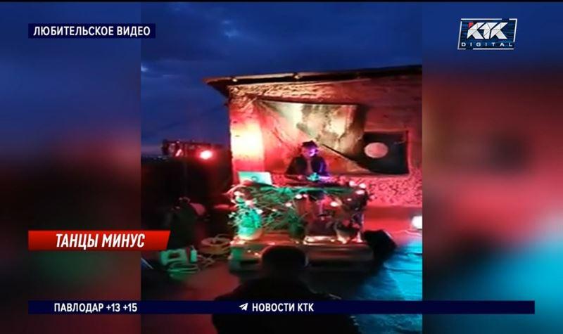 Любители дискотек устроили танцпол на крыше девятиэтажки