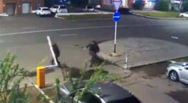 Пьяный мужчина повредил шлагбаум во дворе жилого дома в Нур-Султане и записал видеоизвинение