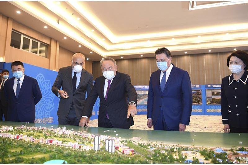 Нурсултан Назарбаев принял участие в презентации международного туристического хаба на Каспии