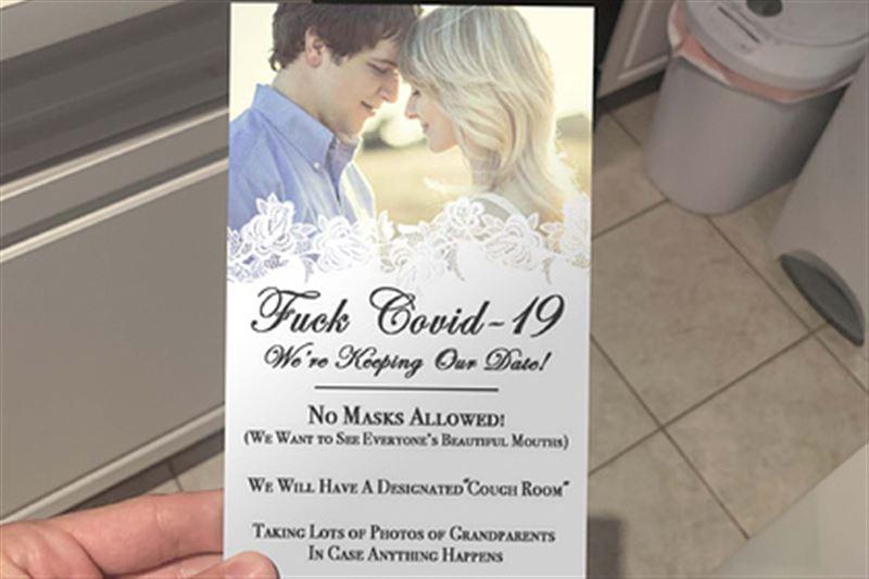 «Без масок»: на свадьбе отвели отдельную комнату для кашля