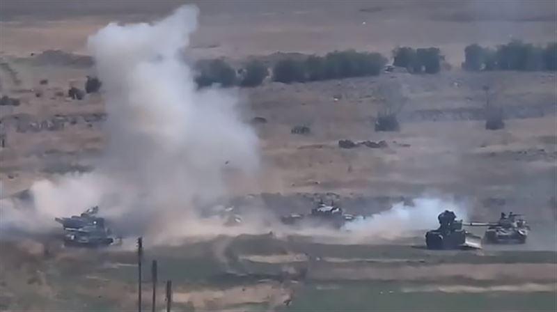 Опубликовано видео танкового боя в Нагорном Карабахе