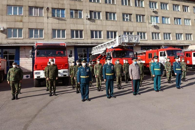 В Алматы почтили память погибших пожарных и спасателей