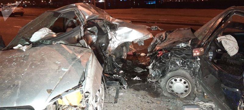 Водитель погиб в страшной аварии в Алматы