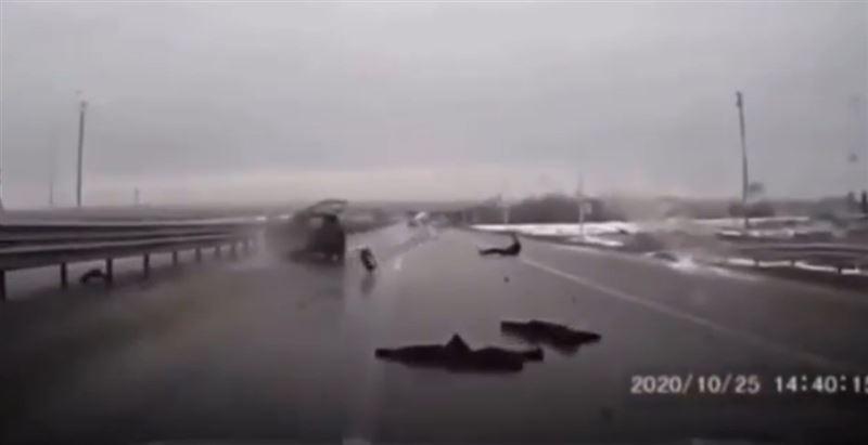 Ер адам Теміртау-Қарағанды тас жолындағы апаттан ғажайыппен аман қалды