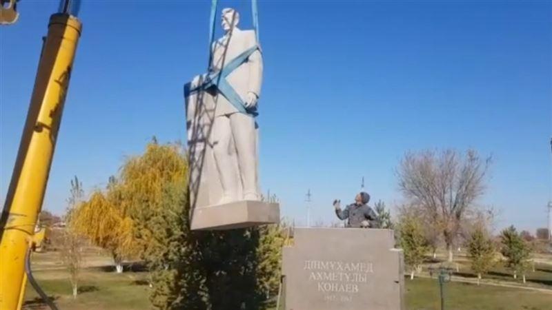 Алматыда Қонаевқа арналған атышулы ескерткіштің құрылысы тоқтады
