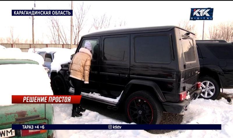 Темиртауская штрафстоянка стала выставкой брошенных машин
