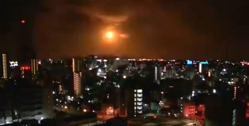 Aспанда метеорид жарылды