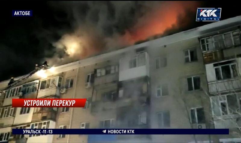 Пьяная компания сожгла крышу многоэтажки и оставила 14 семей на улице