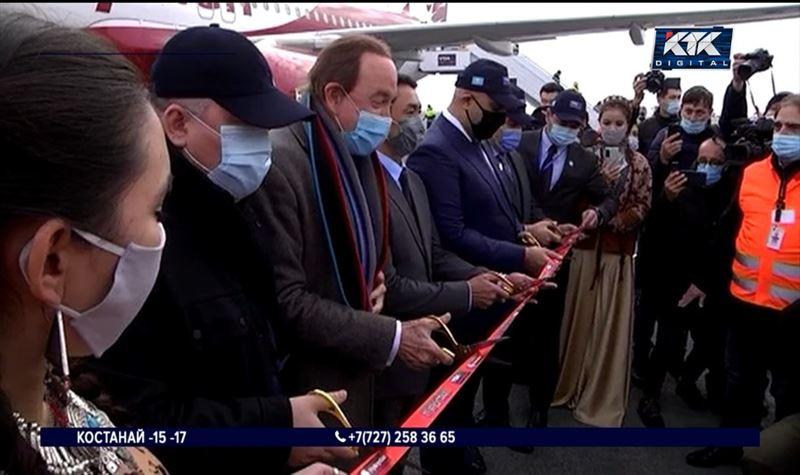 Аэропорт Туркестана принял первых пассажиров