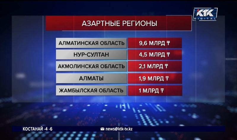 В Казахстане удвоилось количество любителей азартных игр
