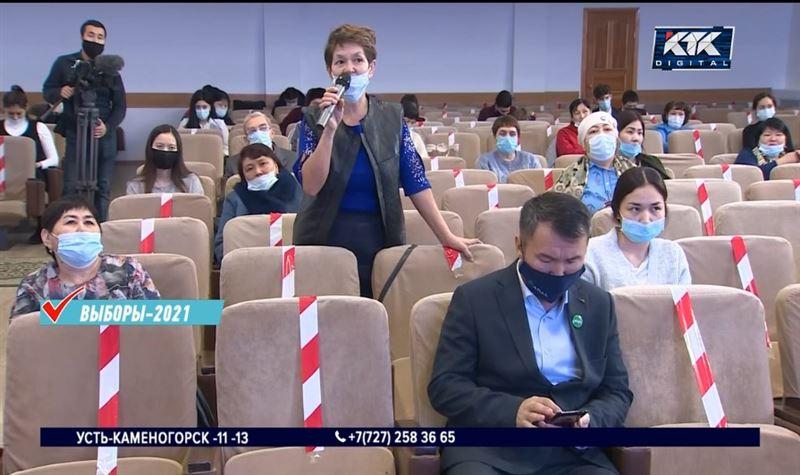Избиратели Актюбинской и Акмолинской областей поделились проблемами с кандидатами от ADAL