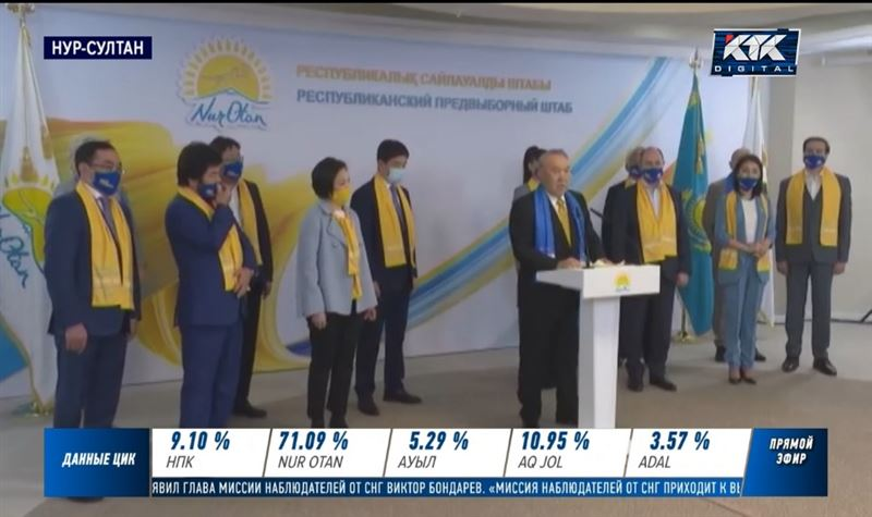 Нурсултан Назарбаев поздравил однопартийцев с победой