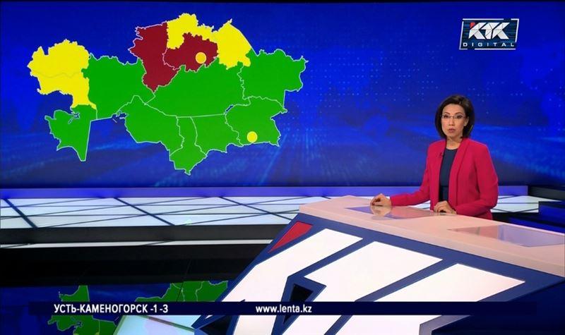 Акмолинская и Костанайская области остаются в «красной» зоне