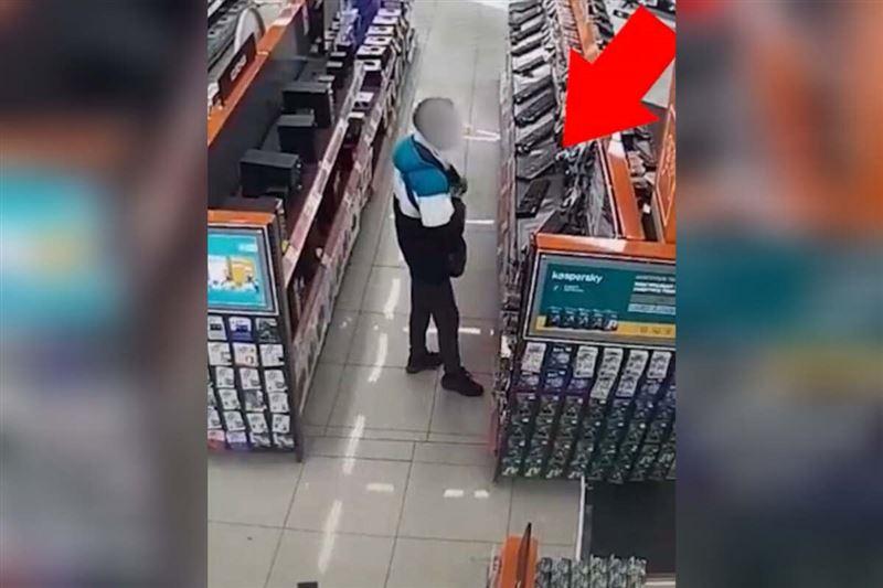 Камера запечатлела кражу в магазине техники в Алматинской области