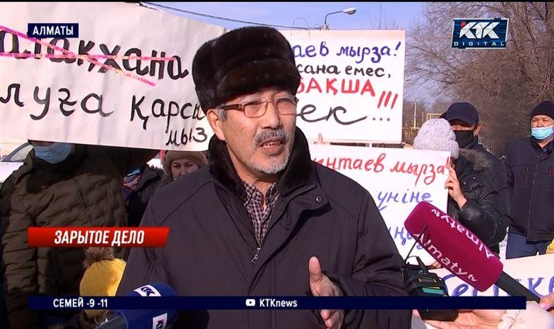 Жильцы алматинского микрорайона протестуют против строительства общежития