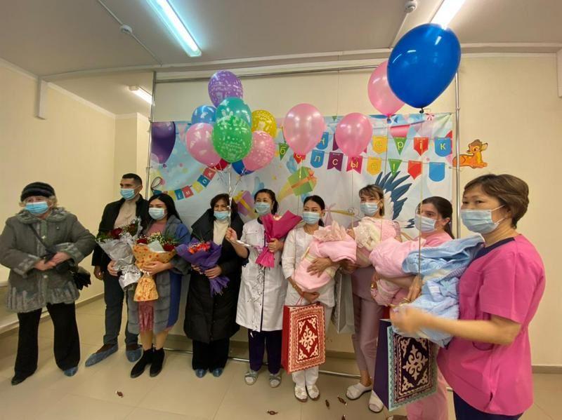 Впервые за 30 лет в Мангистауской области родились четверняшки