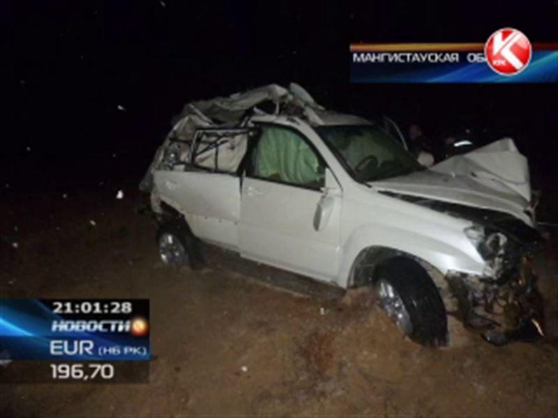 ДТП в Мангистауской области унесло жизни 4 человек