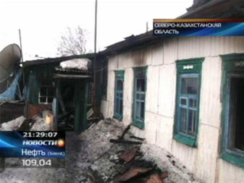 В СКО при пожаре погиб 7-летний мальчик