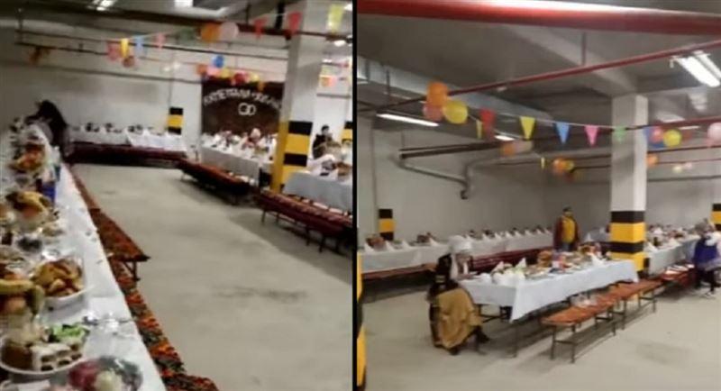 Казахстанцы провели свадьбу в подземном паркинге
