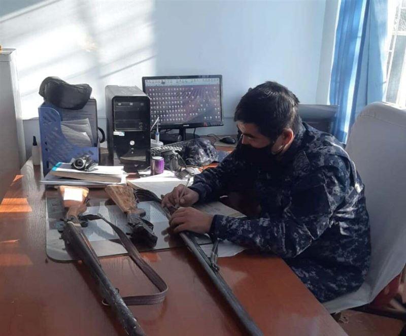 Полицейские Туркестанской области изъяли 46 единиц незарегистрированного оружия