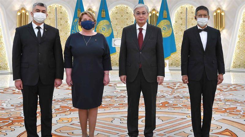 Послы Латвии, Туркменистана и Таиланда вручили Токаеву верительные грамоты