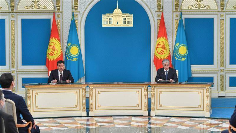 О чем говорили главы Казахстана и Кыргызстана на совместном брифинге