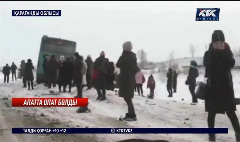 Автобус пен жеңіл көлік бетпе-бет соқтығысты – Қарағанды